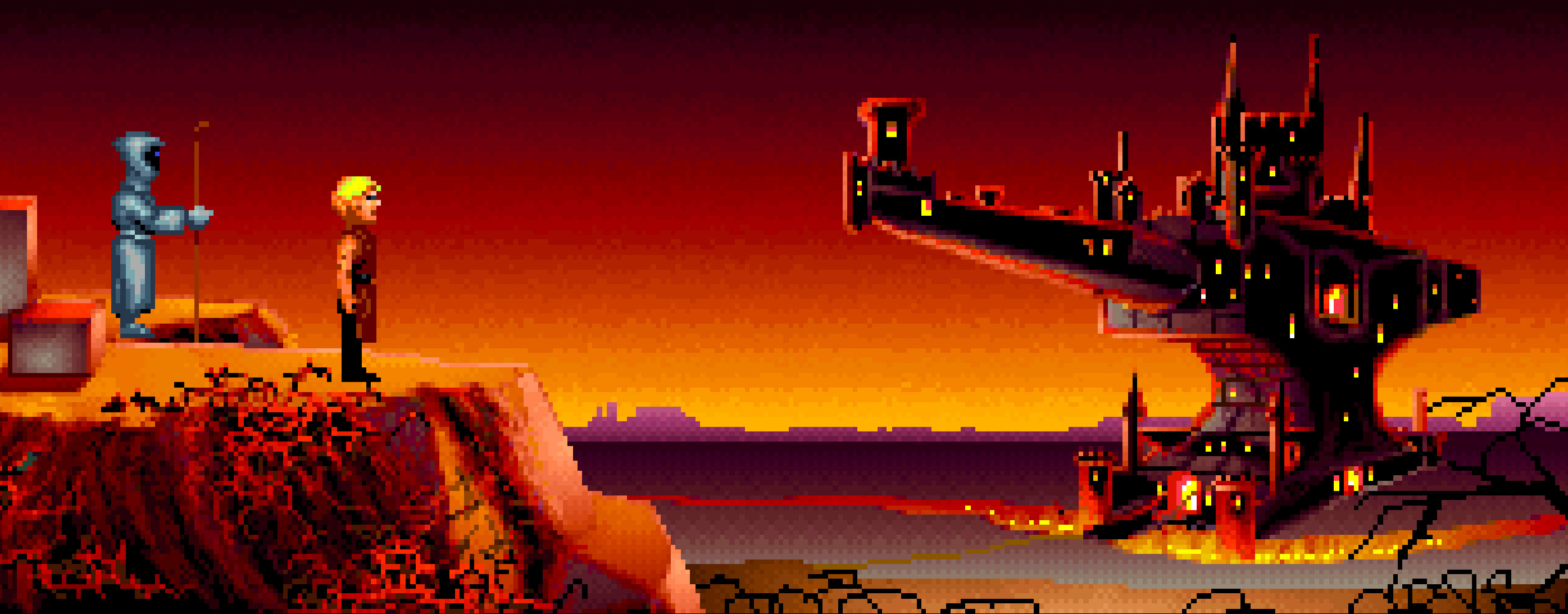Rusty zeigt mir die Stadt der Schmiedegilde