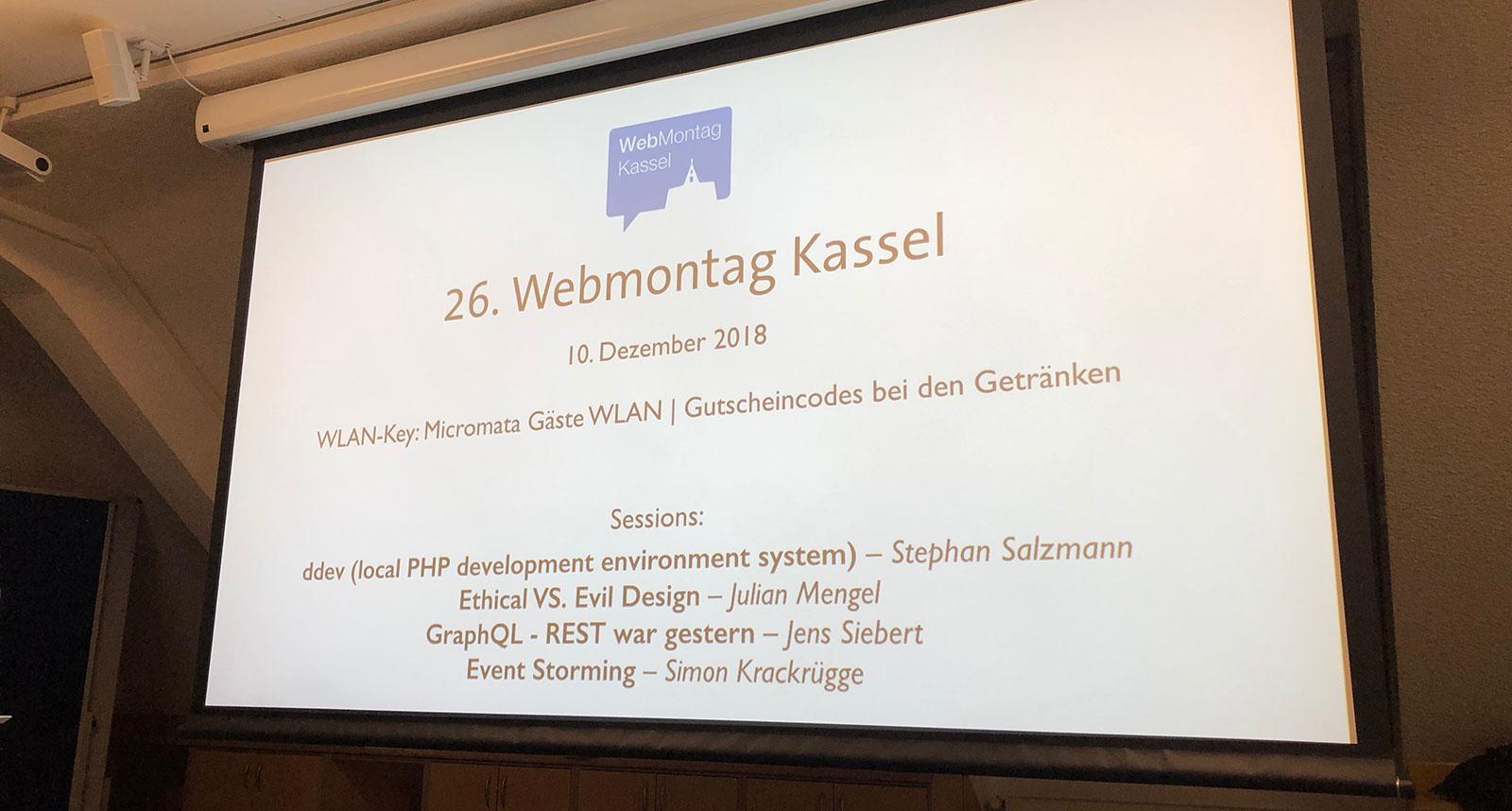 26. Webmontag Kassel